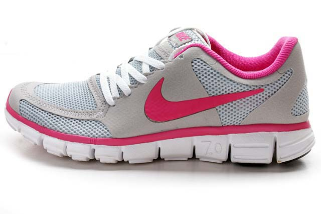 Womens-Nike-Free-7.0-V2-Grey-Pink-Running-Shoes