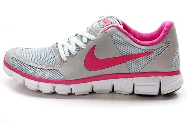 Womens-Nike-Free-7.0-V2-Grey-Pink-Running-Shoes